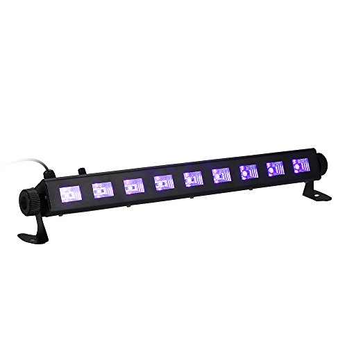 Tomshine 27W Dimmerabile LED UV bar Luce Nera Lampada Portatile ad Alta Brillante 9LEDs Potenza...