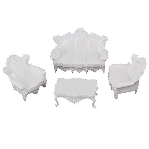 Bianco g Scala 1: 25Model Set Divano Antico architettura casa delle Bambole in Miniatura mobili