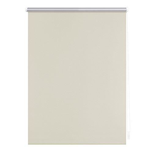 Lichtblick Thermo-Rollo, 60 cm x 150 cm (B x L) in Creme, ohne Bohren, Sonnen-, Sicht-, Hitze- & Kälte-Schutz, reflektierende Thermofunktion, Klemmfix für Fenster & Türen