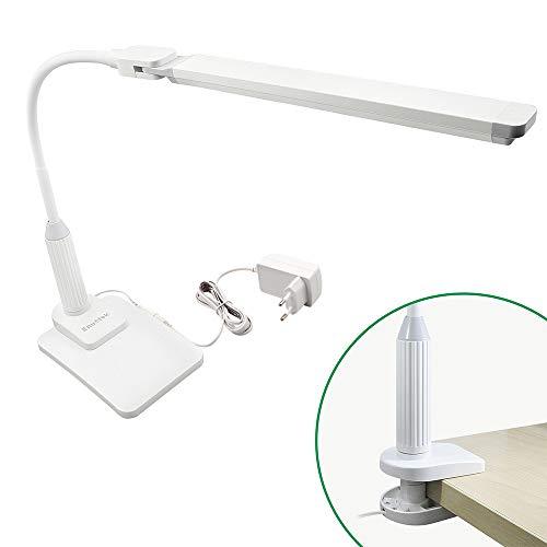 Lampada da Tavolo da Scrivania da Lettura Ufficio a LED 5W Dimmerabile con Base di Pinza e Base di...