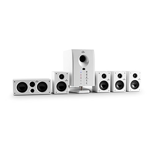 auna Areal 525 WH • Surround Sound System 5.1 • home theatre • Potenza RMS 95 W • subwoofer...