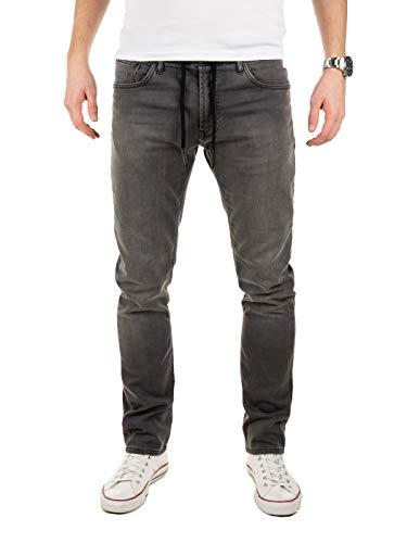 WOTEGA Jogg Jeans Männer Noah - Graue Herren Sweathose in Jeansoptik...