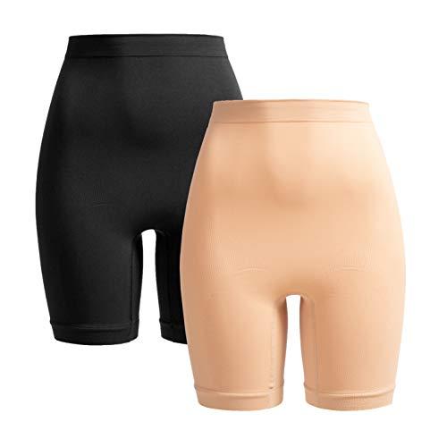 Herzmutter Shaping-Unterwäsche-Shapewear Damen | Bauchbinde-Slip-Miederhose zur Rückbildung | stützend nach Geburt-Schwangerschaft-OP | 1er & 2er-Set | 5620 (M/L, Schwarz|Beige)