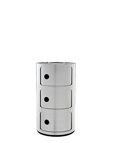 Contenitore Kartell Componibile, Plastica, Cromo, 32 x 32 x 58 cm