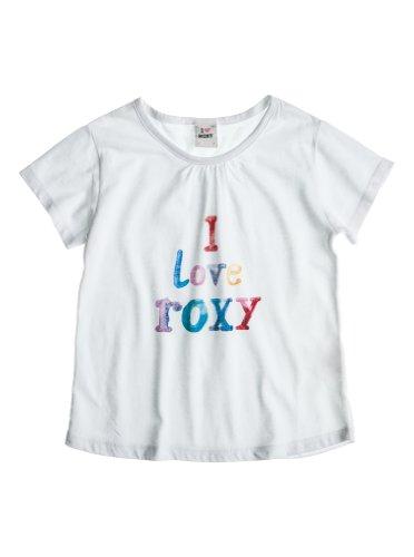 Roxy-Maglietta da Bambina Screenline Elba, Bambina, T-Shirt Screenline Elba, Bianco