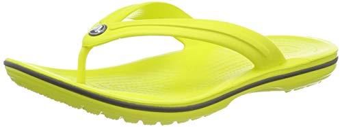 Crocs Crocband Flip, Scarpe da Spiaggia e Piscina Unisex - Adulto, Giallo (Citrus/Slate Grey 000),...