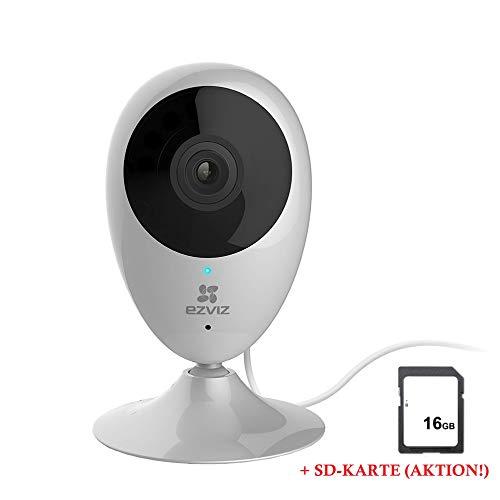 EZVIZ Leicke C2C - Telecamera di sorveglianza HD per Interni WiFi, con Audio bidirezionale, Visione Diurna e Notturna, con sensore di Movimento