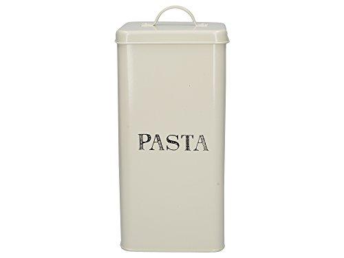 Creative Tops Stir It Up Pastabehälter aus Metall imVintage-Stil, 14 x 28 cm (5,5 x 11 Zoll) - Grauweiß