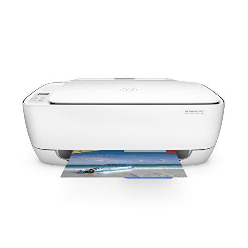HP DeskJet 3630 - Impresora multifunción de tinta (B/N 8.5 PPM, color 6 PPM, WiFi), color blanco