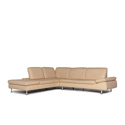 Willi Schillig Loop leather corner sofa beige sofa function couch