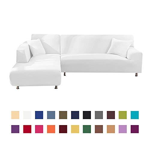 Copridivano Tre Posti Con Penisola,Fodera per divano elastica in tinta unitaSpandex Fodere per...