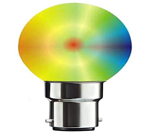 Exolite Parvino LED Bulb B22 Base Master 7 in 1 Multicolor auto Colour Change LED Bulb (0.5 W)
