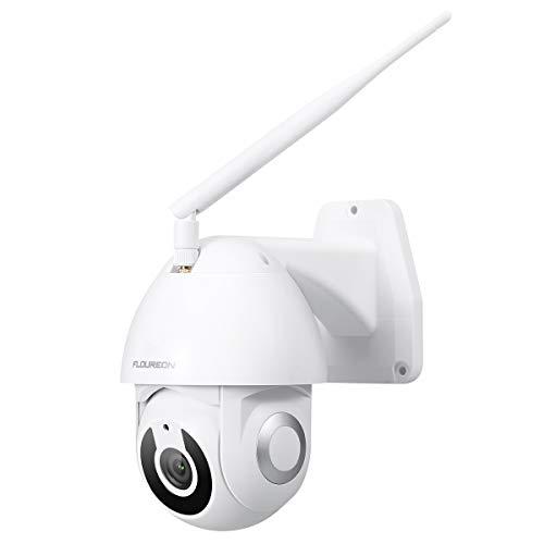 FLOUREON YI IOT HD 1080P PTZ Telecamera di Sorveglianza IP Pan / Tilt Smart Tracking Alert Impermeabile IP66 Visione Notturna IR Audio Bidirezionale Cloud Archiviazione Lavori all'aperto con Alexa