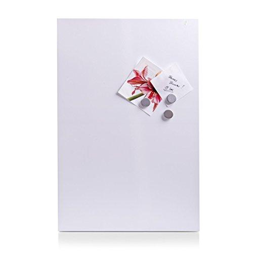 Zeller 11123 Bacheca Magnetica, Metallo, Bianco, 60x40x1.4 cm