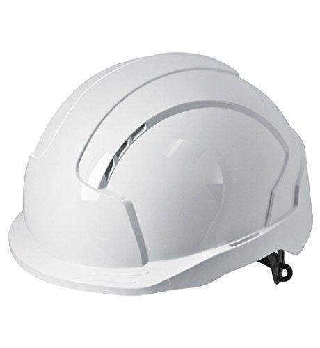 JSP Evolite Casco de seguridad con trinquete One Touch Slip 3d y pico de sistema de ajuste, Ventilado, corto, EN397, color blanco