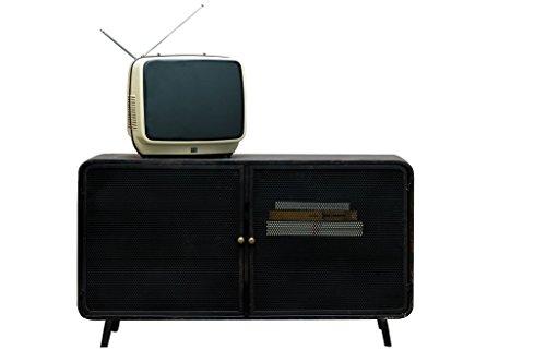 Console TV Mill - Prodotto 100% in metallo | 100% design metallico e finish tondo anni 50 - Marrone...
