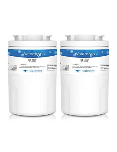WaterDrop MWF Sostituzione Filtro Acqua Frigorifero Interno per GE SmartWater MWF, MWFA, MWFP, GWF,...