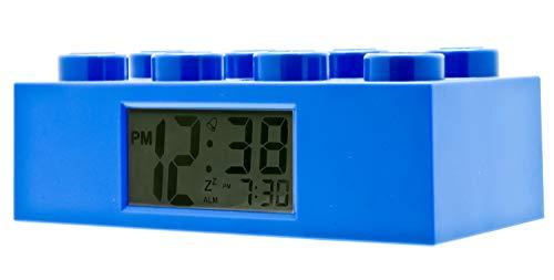 LEGO 9002151 Sveglia retroilluminata per bambini a mattoncino blu