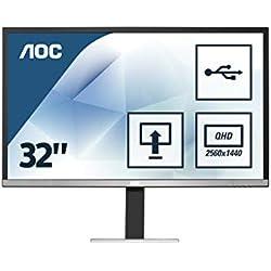 """AOC Q3277PQU Ecran LED IPS 32"""" (2560x1440 , 16:9, 4ms)"""