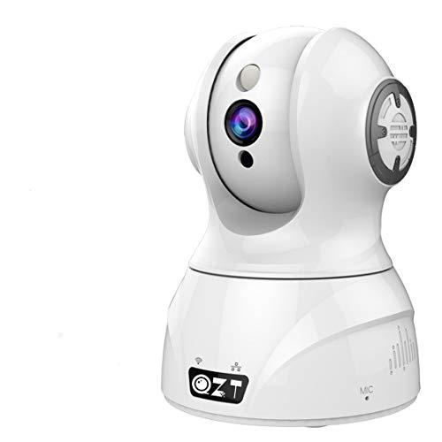QZT Telecamera Wi-Fi Interno, HD 1080P Videocamera Surveillance Wireless con Crociera Automatica, Telecamera IP Interna di Sicurezza Domestica Compatibile con Alexa