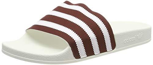 Adidas Adilette Ciabatte Uomo, Rosso (Collegiate Burgundy/Ftwr White/Off White Collegiate...