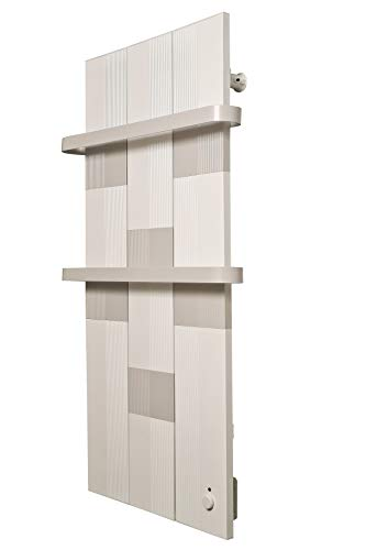 Finesa Badheizkörper-Handtuchwärmer-Elektrischer,Wärmeabgabe 400-750 W,Termostat,Handtuchtrockner,Handtuchhalter (1000x558, Grau-Weiß)***** 5 Jahre GARANTIE *****