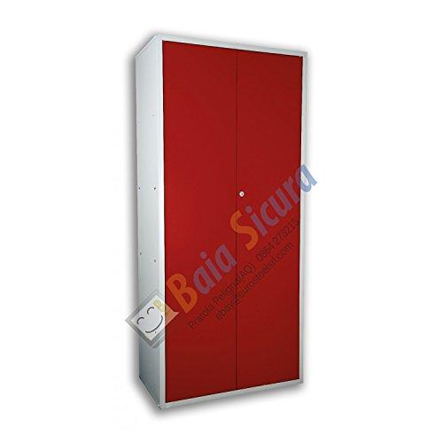 Armadio Portascope 180 x 100 x 40 Colorato Porta Rossa