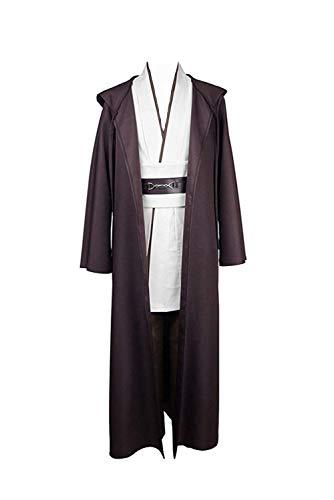 Disfraz de Jedi de Star Wars, tallaje europeo, para adultos Blanco blanco S