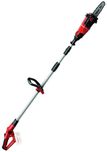 Einhell Expert 3410810 Motosierra telescópica de altura GE-CL 18 Li T Solo, espada/cadena Oregon, longitud de corte 17 cm, velocidad de corte 3.76 m/s, color rojo y negro