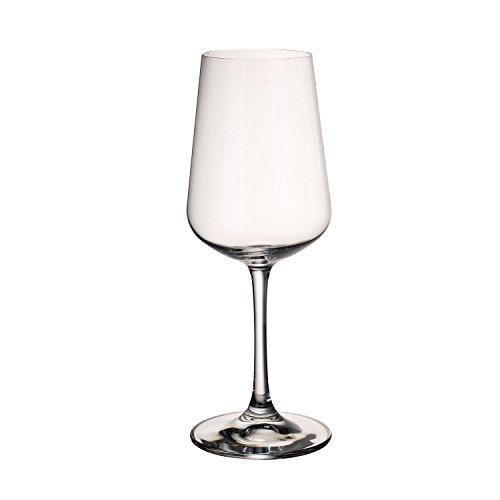 Villeroy & Boch Ovid Calici da Vino Bianco, 380 ml, Cristallo, Trasparente, Set da 4