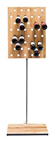 ARCHIVINO, Micro Cantinetta per Vino, 80 x 59 cm, Spazio per 40 Bottiglie, Legno, Rovere, 80 x 59...