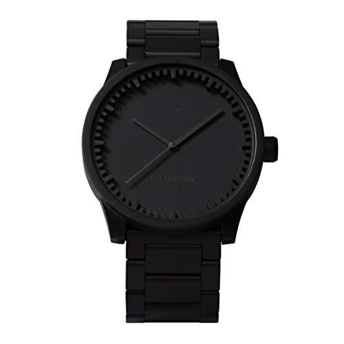 Leff Amsterdam Uhr mit Miyota Uhrwerk Unisex Tube Watch S42 schwarz 42 mm