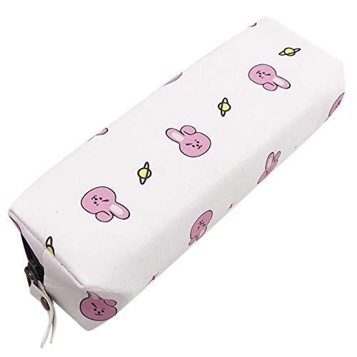 KPOP BTS BT21cute PU matita penna di tata Cooky RJ makeup Storage Bag cerniera borsa 18 * 5 * 5cm...