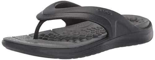 Crocs Reviva Flip U, Scarpe da Spiaggia e Piscina Unisex-Adulto, Nero (Black/Slate Grey 0dd), 42/43...