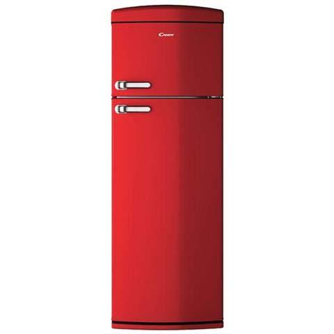 Candy - Frigorifero Doppia Porta CVRDS 6174R Statico Ventilato Classe Energetica A++ Colore Rosso