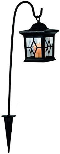 Star 477-20 LED-Solarlaterne, 1-teilig,ca. 58 cm x 14,5 cm, schwarz