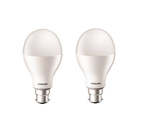 Philips Stellar Bright 20-Watt LED Bulb (Pack of 2, Cool Day Light)