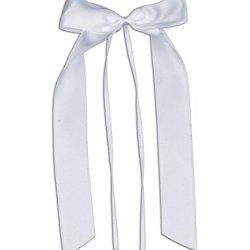 floristikvergleich.de 10 Antennenschleifen, Deko Schleifen, Hochzeit, Autoschmuck, Autoschleifen, Weiss