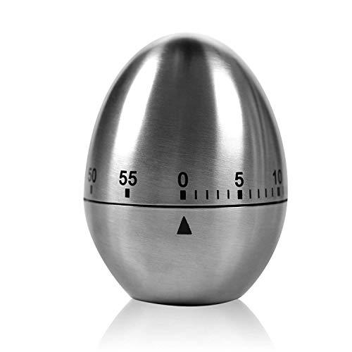 """Zeitmesser Küche TURATA Kurzzeitmesser \""""Ei\"""" Küchentimer Eiförmige lustige Eieruhr Edelstahl rostfrei Kurzzeitwecker küche mit Stoppuhr Handwäsche"""