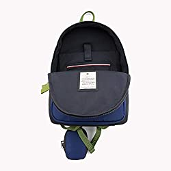 Tommy Hilfiger - Effortless Saffiano Backpack, Mochilas Mujer, Azul (Corporate), 15x29x21 cm (B x H T)