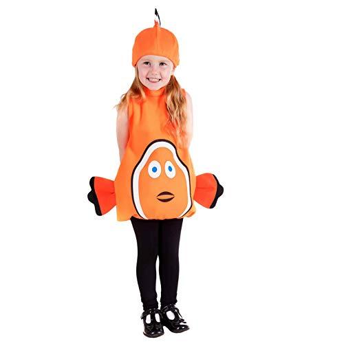 Fun Shack- Costume Disfraz, Color Clown Fish, Small (FNK4482-102-US)