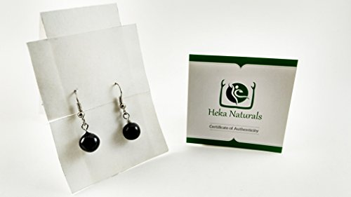 Shungite Little Spheres Earrings Guaranteed Authentic Highest Quality  Russian Natural Healing Stone from Karelia - EMF Radiation Protection,  Chakra