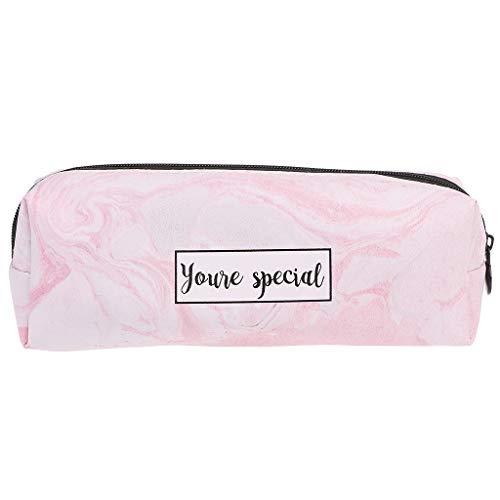 Youliy, astucci per ragazze, astuccio in marmo, articoli di cancelleria per la scuola rosa