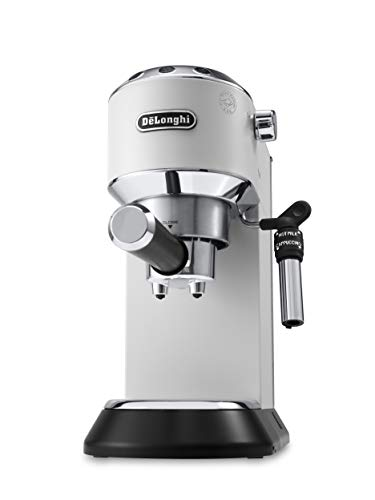 De'Longhi EC685.W Macchina per caffè Espresso Manuale, 1350 W, 1 Litro, 0 Decibel, Acciaio...
