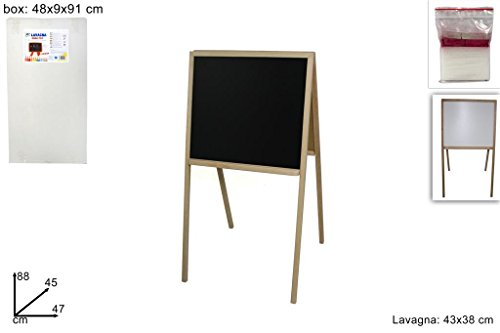 LAVAGNA DOUBLE FACE CON CAVALLETTO 43x38 CM (35x50) MENU BAR PUB GIOCO + OMAGGIO
