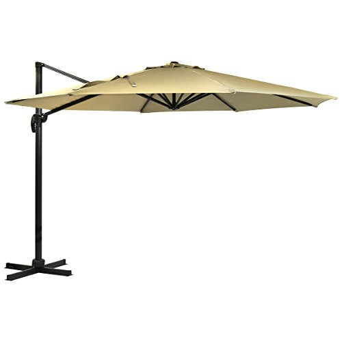 Are you looking for an extra-large parasol? Why not look at the Charles Bentley Garden Premium Hanging Parasol? It comes with a 3.5m diameter canopy effectively providing coverage for your outdoor events or a simple dinner with your closest friends. The good thing about this parasol is its ability to be tilted in the angle needed with ease therefore, protecting you from both the sun and rain.