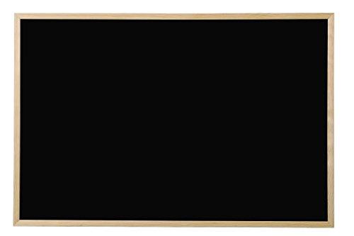 Bi-Office Lavagna Nera Per Gesso Basic, Cornice di Pino, 60 x 40 cm