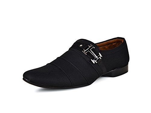 Essence Black Men's Money Essence Party Wear Shoe (Black)(9)