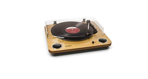 Ion Audio Max LP USB Digital Conversion Turntable and Vinyl Record Player with Mac and PC Software, Brown