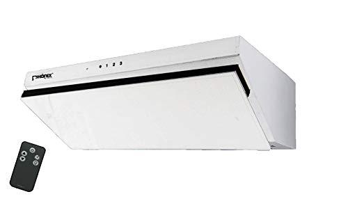 Phönix H-60G cappa aspirante 60 cm vetro obliqua parete LED Touch + FB bianco